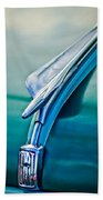 1956 Fiat Hood Ornament 2 Beach Towel by Jill Reger