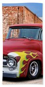 1956 Ford F100 'brickyard' Pickup Beach Towel