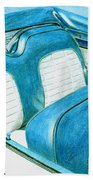 1956 Ford Fairlane Convertible 1 Beach Towel
