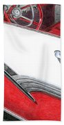 1956 Ford Fairlane Convertible 2 Beach Towel