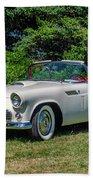 1956 Ford Thunderbird Beach Towel