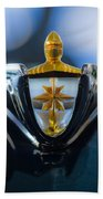 1956 Lincoln Hood Ornament Beach Towel