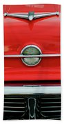 1956 Oldsmobile Hood Ornament 4 Beach Towel by Jill Reger
