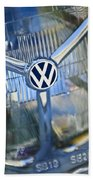 1956 Volkswagen Vw Bug Head Light Beach Towel