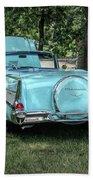 1957 Bel Air  Blue Convertible  Beach Towel