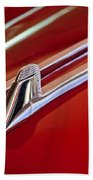1957 Cadillac Eldorado Biarritz Hood Ornament Beach Towel