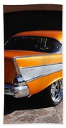 1957 Chevrolet Belair Coupe Beach Towel