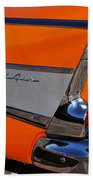 1957 Chevrolet Belair Coupe Tail Fin Beach Towel
