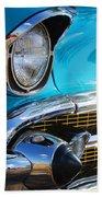 1957 Chevrolet Belair Grille Beach Towel