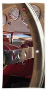 1957 Ford Fairlane Steering Wheel Beach Towel