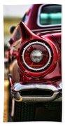 1957 Ford Thunderbird Red Convertible Beach Towel