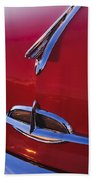 1957 Oldsmobile Hood Ornament 4 Beach Towel