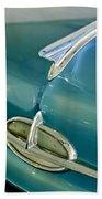 1957 Oldsmobile Hood Ornament 5 Beach Towel