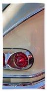 1958 Chevrolet Belair Taillight Beach Towel