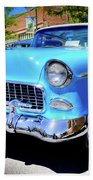 1955 Chevy Baby Blue Beach Towel