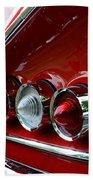 1958 Impala Tail Lights Beach Towel