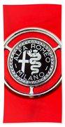 1959 Alfa-romeo Giulietta Sprint Emblem Beach Towel by Jill Reger