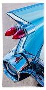 1959 Cadillac Eldorado 62 Series Taillight Beach Towel