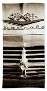 1959 Chevrolet Impala Grille Emblem -1014s Beach Towel