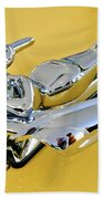 1959 Nash Metropolitan Coupe Hood Ornament Beach Towel
