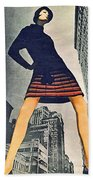 1960 70 Fashion Shot Of Female Model In Usa Beach Towel