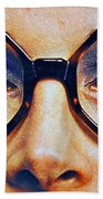 1960 70 Stylish Female Glasses Advertisement 4 Beach Towel
