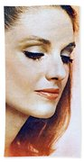 1960 70 Stylish Lady In Red Beach Towel