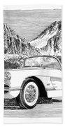 1960 Corvette Beach Towel