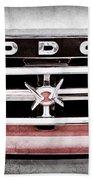 1960 Dodge Truck Grille Emblem -0275ac Beach Towel
