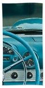 1960 Ford Thunderbird Dash Beach Towel