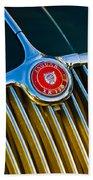1960 Jaguar Xk150 Roadster 3 Beach Towel