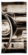 1960 Maserati 3500 Gt Spyder Steering Wheel Emblem -0407s Beach Towel