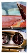1961 Cadillac Tail Light And Fin Beach Towel
