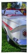 1961 Chevrolet Impala Convertible Beach Towel