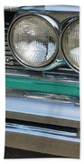 1961 Pontiac Catalina Grille With Headlights And Logo Beach Towel