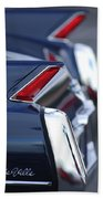 1962 Cadillac Deville Taillights Beach Towel