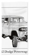 1962 Dodge Powerwagon Beach Towel