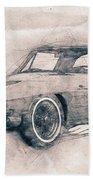 1963 Chevrolet Corvette Sting Ray - 1963 - Automotive Art - Car Posters Beach Towel