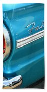 1963 Ford Falcon Tail Light And Logo Beach Towel