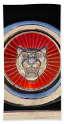 1963 Jaguar Xke Roadster Emblem Beach Towel