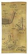1963 Sand Wedge Patent Beach Towel