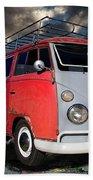 1963 Volkswagen Double Cab Truck Beach Towel