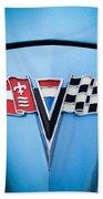 1964 Chevrolet Corvette Sting Ray Gm Styling Coupe Hood Emblem -0126c45 Beach Towel