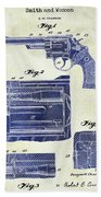 1964 Smith And Wesson Gun Patent Two Tone Beach Towel