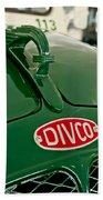 1965 Divco Milk Truck Hood Ornament Beach Towel