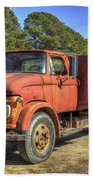 1965 Ford F600 Snub Nose Commercial Truck Beach Towel