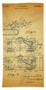1966 Bulldozer Patent Beach Towel