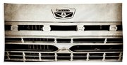 1966 Ford F100 Pickup Truck Grille Emblem -113s Beach Towel