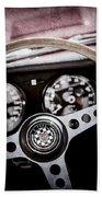 1966 Jaguar Xk-e Steering Wheel Emblem -2489ac Beach Towel