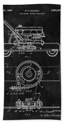 1966 Lawn Mower Patent Image Beach Towel